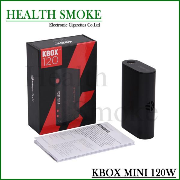 NEW Original Kanger KBOX 120 W Caixa Mod Potência Variável Controle de Temperatura Alimentado por 18650 Bateria