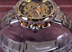 Image 3 - ساعة ذهبية شفافة ساعات رجالية ماركة فاخرة Relogio ساعة رجالية ساعة عادية ساعة رجالية Montre Homme ساعة ميكانيكية موديل سكيلتون
