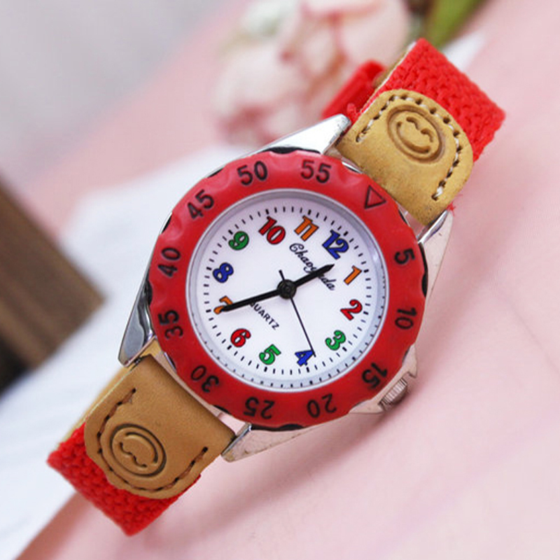 2018 Famous Brand Children Boys Girls Quartz Canvas Watches Kids Students Birthday Holidays Gifts High Quality Electronic Clock