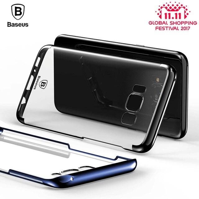 BASEUS Прозрачный чехол для Samsung Galaxy S8 Чехол блеск серии покрытие Hard PC Пластик В виде ракушки для Samsung Galaxy S8 плюс