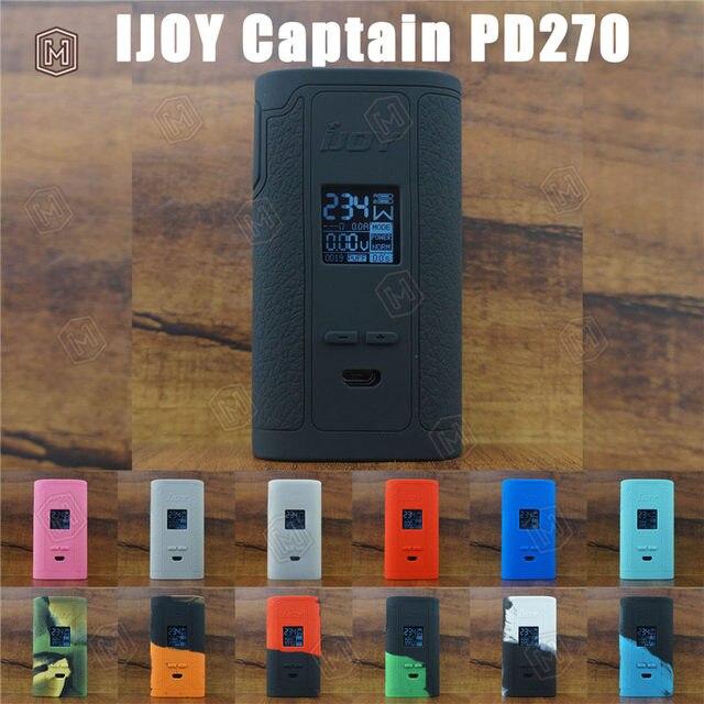 3425fad9c67067 5 sztuk pokrywa silikonowa dla IJOY kapitan PD270 podwójny 20700 zestaw  vape skóry skrzynki mod protector