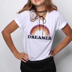 Female Tumblr Tee Tshirt Women T-shirt Top Hippie Letter Tees Casual Printed Tops Shirt Printing Graphic Festivals 6