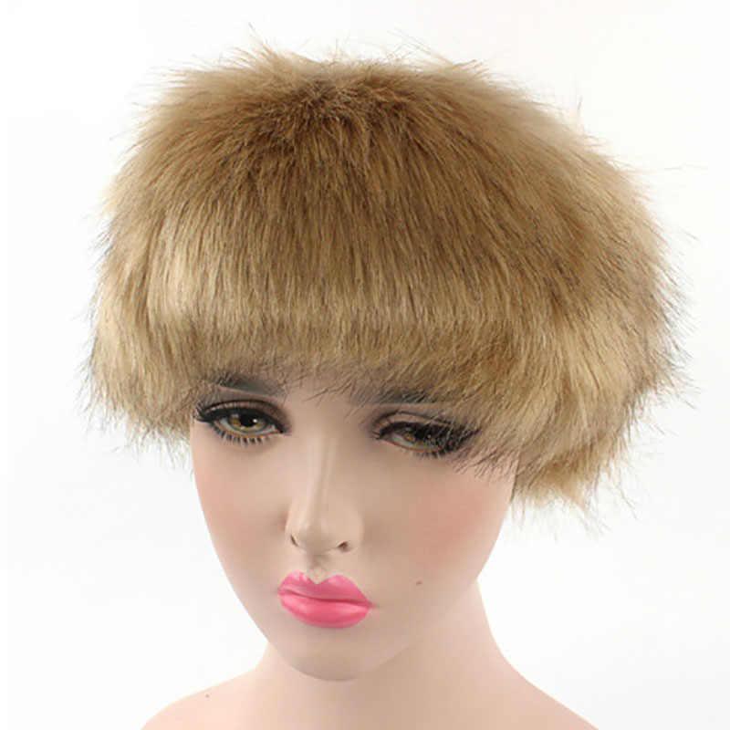 bd1ef90c48d ... Bandanas Winter Fur Warm Headband Fox Fur Hat Faux Fur Head Warmer  Women s Ear Warmer Earmuff