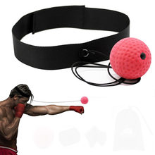 Boxing Reflex Speed Punch Ball Training Hand Eye Coordination with Headband Improve Reaction Muay Thai Gym Exercise Equipment(China)