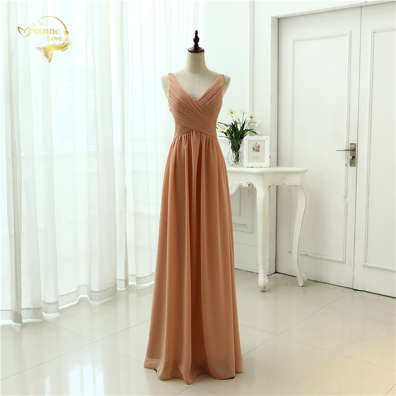 Sexy Robe De Soiree Cheap Price 2019 New Design Hot Sale Vestidos De Festa Longo Chiffon V Neck Long   Evening     Dresses   OL3100