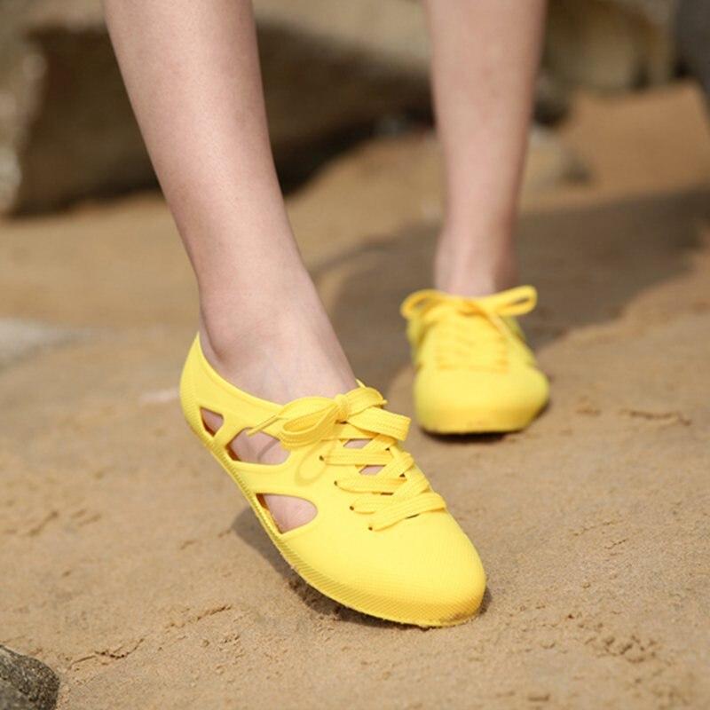 La Vacances Rouge jaune Thai Green Version Sandales Gelée Coréenne mint Bottes Mode noir Femelle rose Apricot Plage bleu Chaussures rose Baotou De Pluie Infirmière Plat SY7pAq