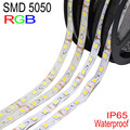 5050 RGB LED Strip Waterproof  IP65 5M DC 12V Tira LED Light Flexible Neon Fita LED Ribbon Ledstrip Tape Christmas Ruban Bande