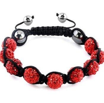Bracelet Shamballa Swarovski Rouge