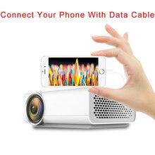 Proyector CRENOVA Full HD compatible con vídeos 4 K * 2 K para proyectores de cine en casa con la misma pantalla con HDMI AV USB Beamer