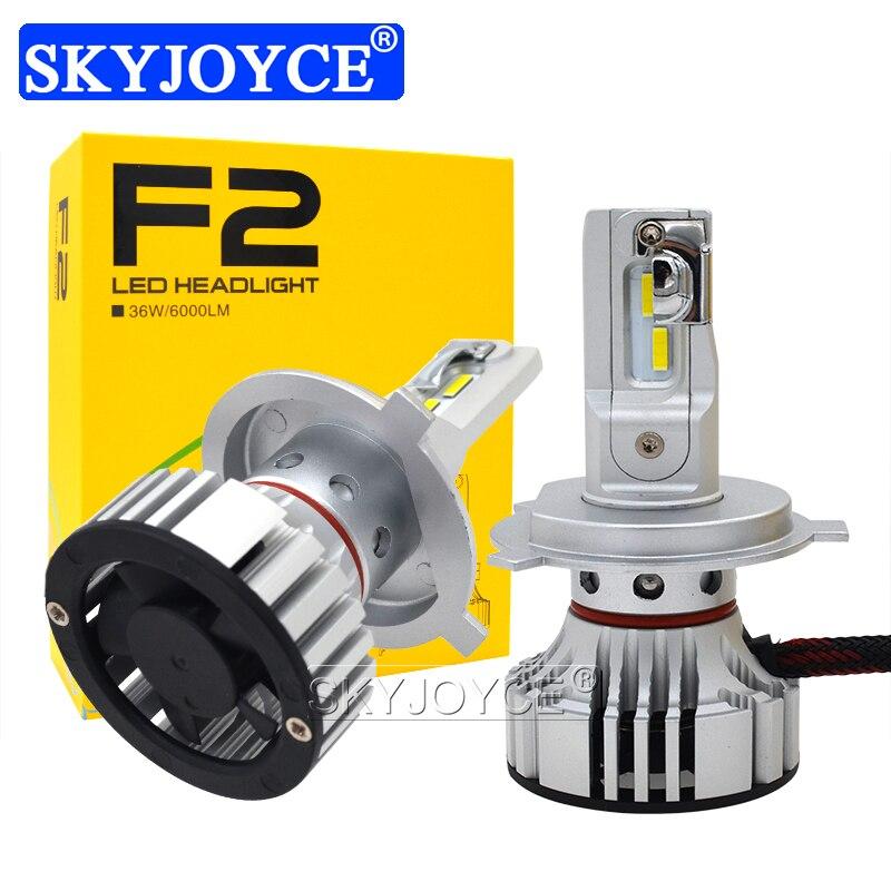 SKYJOYCE New H4 F2 LED Car Headlight Bulb Kit H7 H1 HB3 9005 HB4 9006 72W 12000LM CSP Chips 6500K White H11 LED Fog Lamp Bulbs (17)
