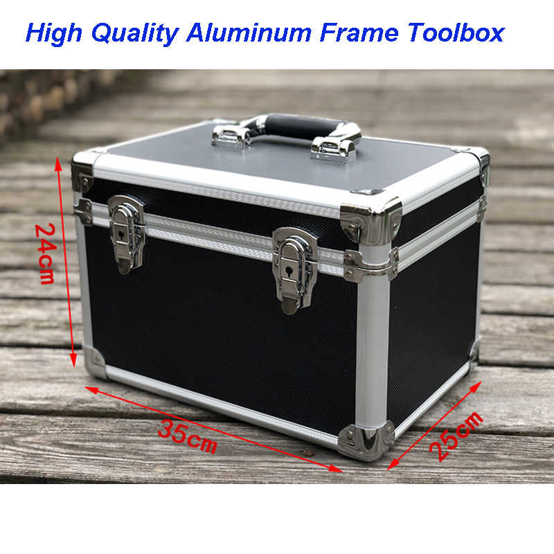 Sample Shock-proof Verpakking Instrument en Apparatuur Aluminium Doos van Medium Zwarte Ronde Hoek Hand-held Aluminium tool case