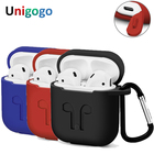 AirPods Case Protective Silicone Cover and Skin for Apple Airpods Charging Case optional Anti Lost Strap and Carabiner Buckle