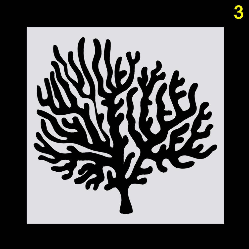 DIY Cabang Pohon Bentuk Embossing Stensil Cetakan untuk Kue Cokelat Membuat Baking Persediaan LKS99
