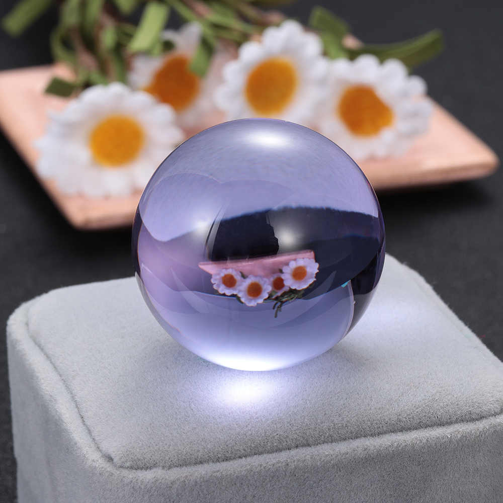 1PC 30/40mm Crystal Ball Natural Pink Amethyst Quartz Stone Sphere Crystal Fluorite Ball Healing Gemstone DIY Home decor