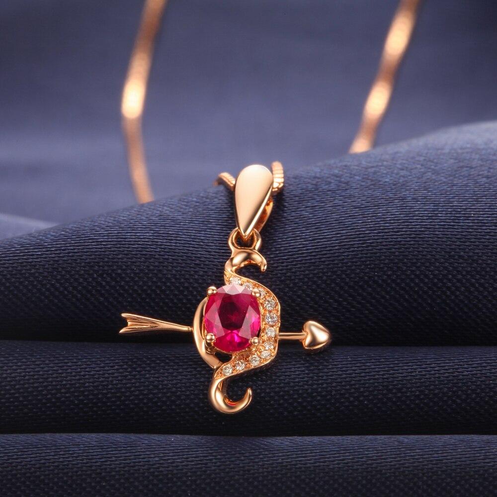 Натуральный рубин подвесное бриллиантовое ожерелье PendantCupid's arrow ювелирное изделие на День святого Валентина