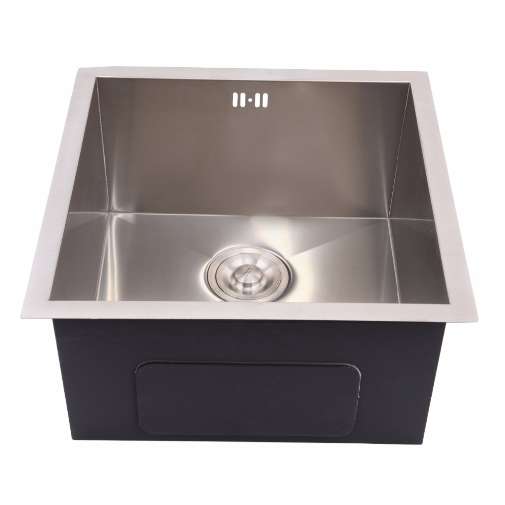 45cm x 45cm 304 Stainless Steel Kitchen Sink Laundry Single Square ...