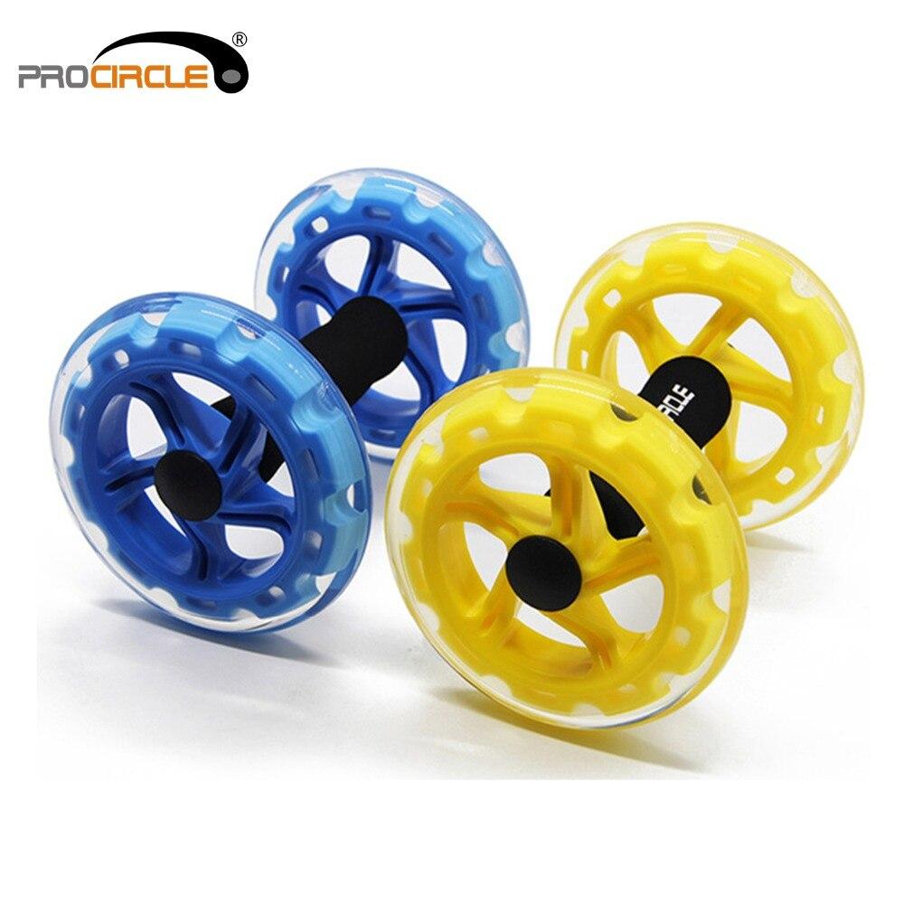 Procircle Ab Roues Abdominale Exercice Rouleaux Pour Core Formateur Exercice de Force Crossfit Gym Body Fitness Double-roues