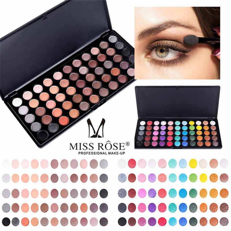 55 Warna Nude Eye Shadow Palet Shimmer Glitter Profesional Eye Shadow Powder Profesional Matt Eyeshadow Kosmetik Makeup