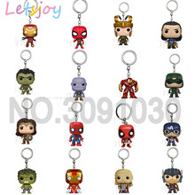 Letsjoy 4.5 cm pop spiderman homem de ferro Vingador Justice league THE galaxy guardião Thanos deadpool Keyring(China)