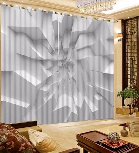 Online Shop customize blackout curtains White and concave walls 3d ...