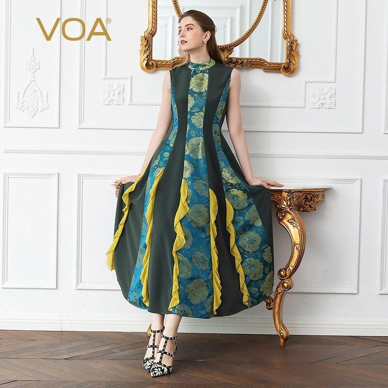 X-Future Womens Drawstring Embroidery Floral Long Sleeve Muslim V Neck Long Dress