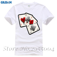 Poker Cards Adult T Shirt 2017 Fashion Customized Loose T Shirt Men S Summer O Neck