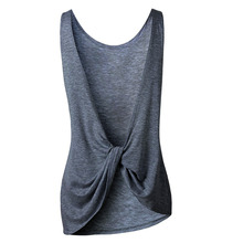 2018 New Arrival Summer Women Sexy Sleeveless Backless Shirt Knotted Tank Top Blouse Sexy Vest Tops Tshirt Open Back t shirt Hot