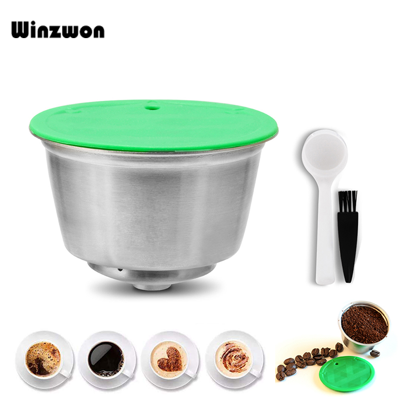 1Set Stainless Steel Dolce Gusto Capsule Crema Permanent Coffee Filter Reusable Coffee Capsule Refillable Coffee Pod For Nescafe