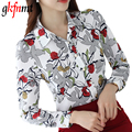 gkfnmt Blusas Women Tops 2017 Spring Blouses Ladies Chiffon Floral Shirt Women Slim Camisas Mujer Plus Size Chemise Femme XXL