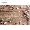 Laeacco старые деревянные доски свежий цветок ПОРТРЕТНАЯ ФОТОГРАФИЯ фоны индивидуальные фотографические фоны для фотостудии
