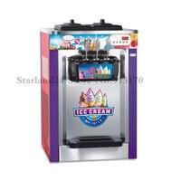 Soft Ice Cream Máquina 220 V Três Sabores Soft Serve Ice Cream Sundae Máquina Nova Marca Digital de Controle Aprovação CE|soft ice cream machine|cream machine|ice cream machine -