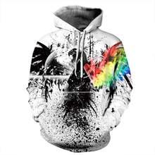Nuevo estilo Hiphop sudaderas 3D Cuervo pájaro impresión otoño con capucha  mujeres hombres Hoodie Lover Pullover cd4cae63445