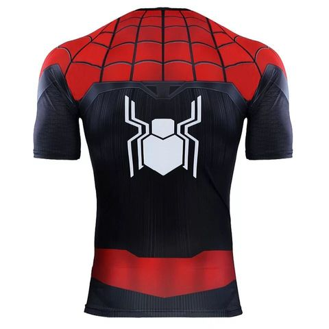 Spider-man Far From Home Cosplay T Shirts Men Fashion Spiderman Sports Short Sleeve T-shirts Tops Tees Karachi