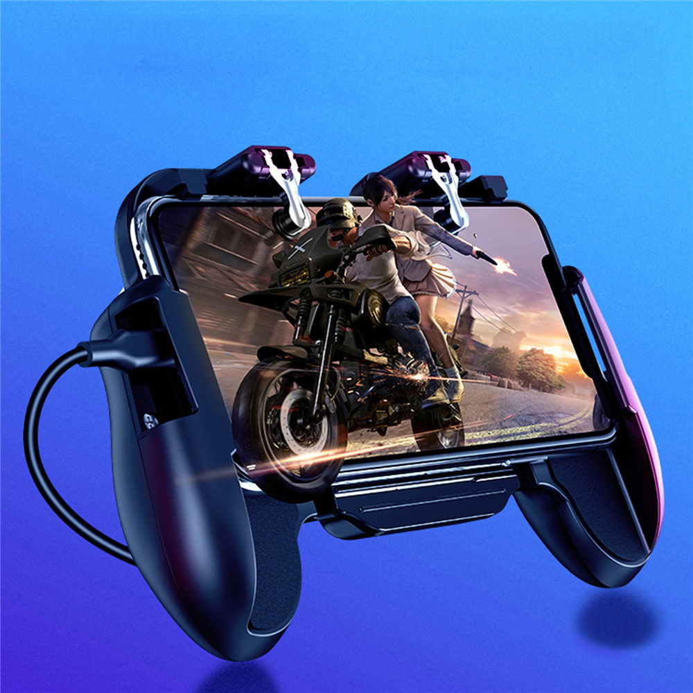 PUBG Mobile Controller L1R1 Gamepad Cooler Fan Joystick Free Fire Trigger Pubg Mobile Controller for IOS Android Game Pad