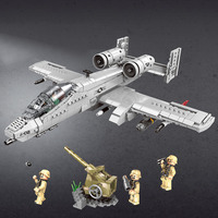 XINGBAO XB06022 Army Series Legao Legoed Technic Military Building Blocks A 10 Attack Plane Special Forces Soldier Bricks