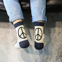 High Quality Men Socks Cotton Peace Logo fashion trend Casual Suitable for all seasons Excellent Breathable