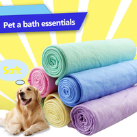 Dog Cleaning Thicker Fast Drying Towel Soft Cat Bath Towel Massage Super Absorbent Toalla Mascotas Pet