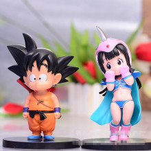 Dragon Ball Z Goku ChiChi quente Infância Dragonball Goku ChiChi Casamento Set PVC Action Figure Model Collection Toy Presente de Natal
