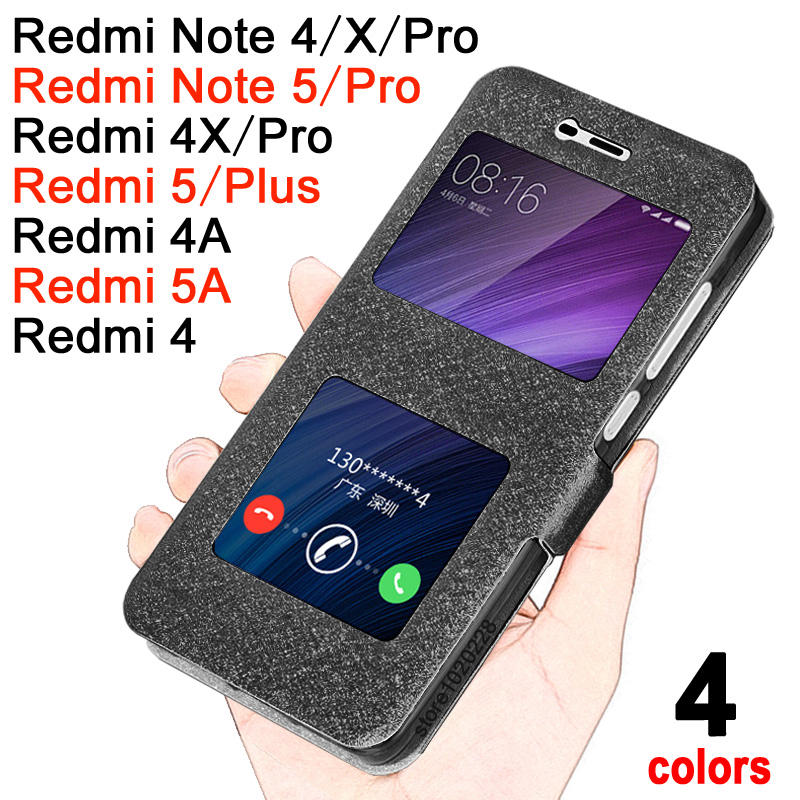 Xiaomi Redmi Note 5A Pro Case Luxucy Flip Cover for Xiaomi Redmi Note5 / 4X Pro Case Windows Xiaomi Redmi Note 5 / 4 / 4x / Pro Redmi 4A