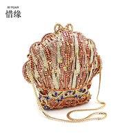 Xiyuan Брендовые женские новые роскошные золотые полный алмазов сумки через плечо Pochette вечер леди сумка женские модные сумки, кошельки