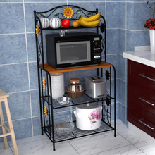 YONTREE 1PC Vintage Microwave Oven Shelf Kitchen Storage Rack Avaiable within US Freeshipping HW015-NJ
