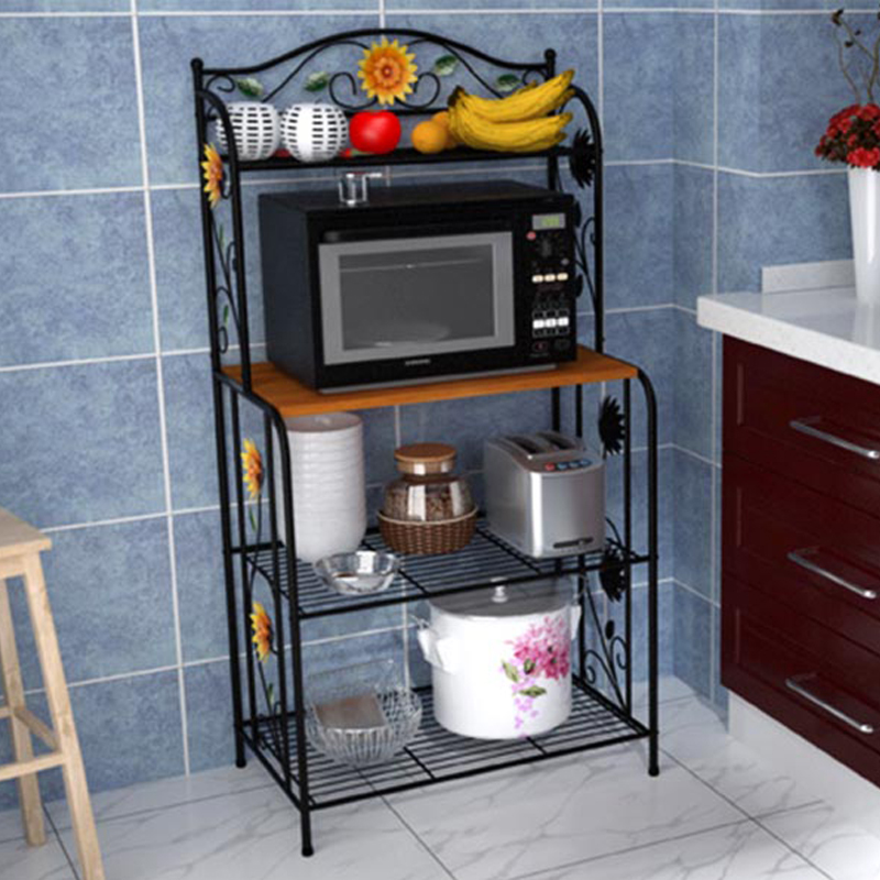 YONTREE 1PC Vintage Paint Microwave Oven Racks Kitchen Storage Shelf on kitchen pot racks, kitchen sink racks, kitchen slide out racks, kitchen pantry racks, kitchen pan storage racks,