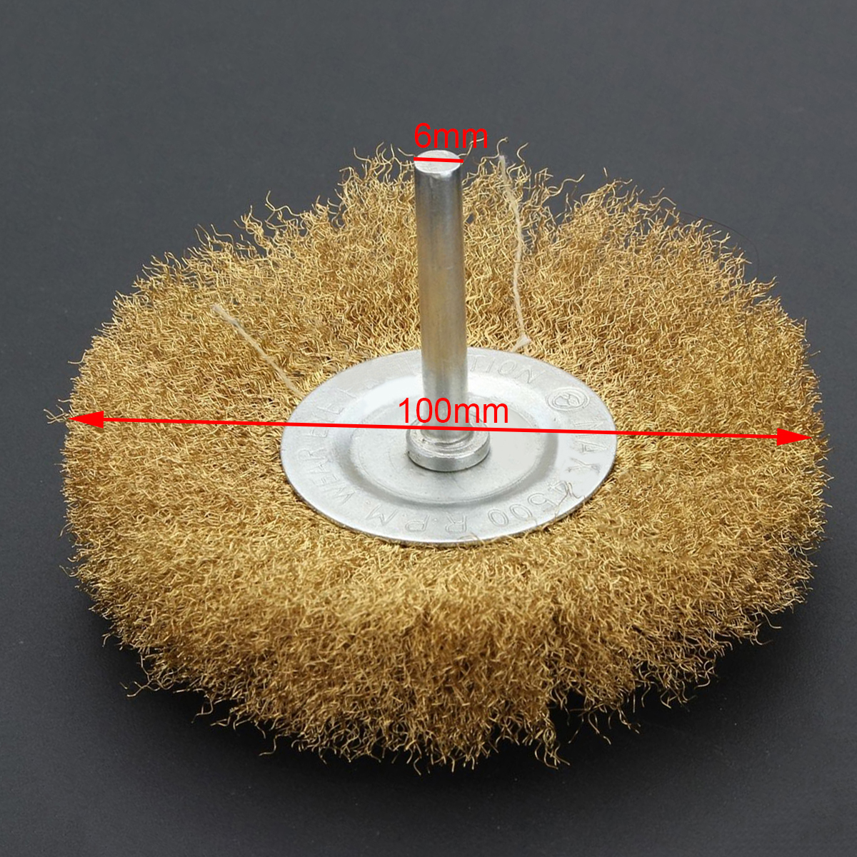 10x rotary mini tools steel wire wheel brushes cup rust cleaning - 1pc Durable 1 4 Shank Brass Plated Rotary Wire Wheel Mayitr For Remove Clean Rust Paint Scale Dirt Power Drill Brush 4500 Rpm