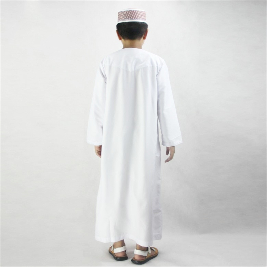 27845b7362af4 US $16.26 38% OFF|Boys Islamic Clothing for Kids Muslim Abaya Arab Dubai  Turkey Malaysia Round Neck Prayer Islam Robes for Toddler Boy Thobe-in ...