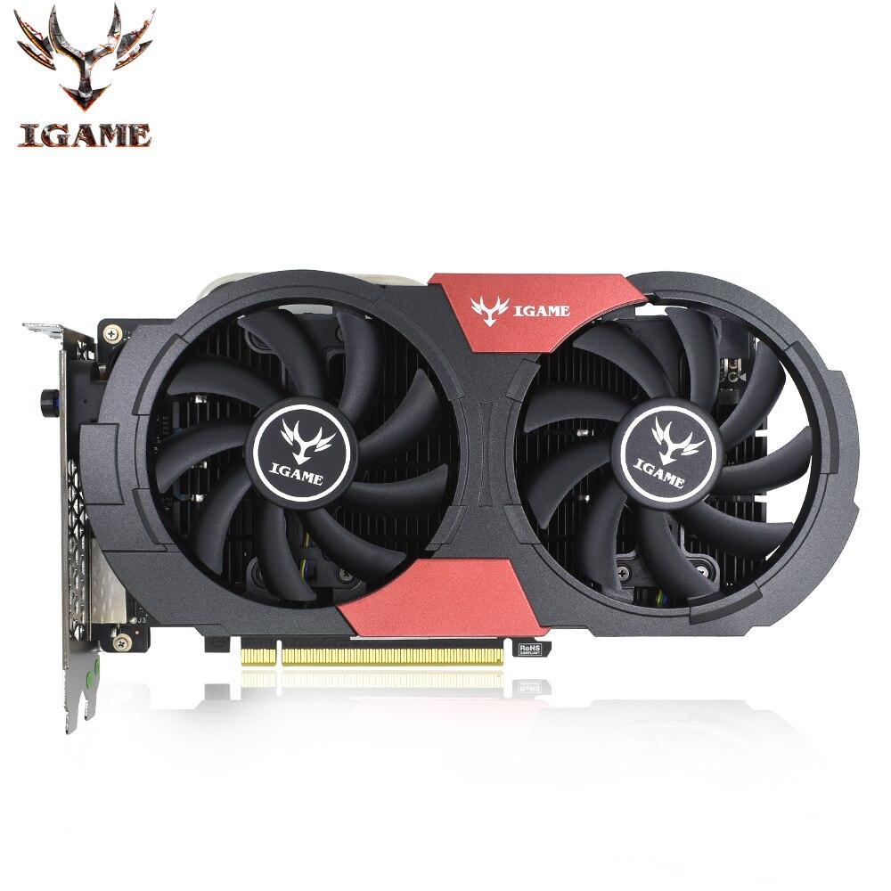 Красочные GeForce iGame NVIDIA gtx 1050 ti Графика карты 1050Ti GPU игровой видеокарты ПК Desktop 4 ГБ GDDR5 PCI E X16 3,0