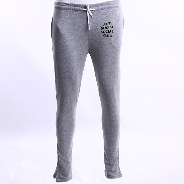 anti social social club fashion Autumn winter men pants brand clothing male casual sweatpants trousers warm pants men