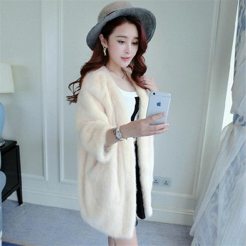 Au Femmes Imitation Hiver Longueur Chaud Garder Pour 2019 Jeune gray Manteau Nouvelle Causal Lâche A3764 pink Mode Outwear En Fille Long White Dans Fourrure Xqwnz076