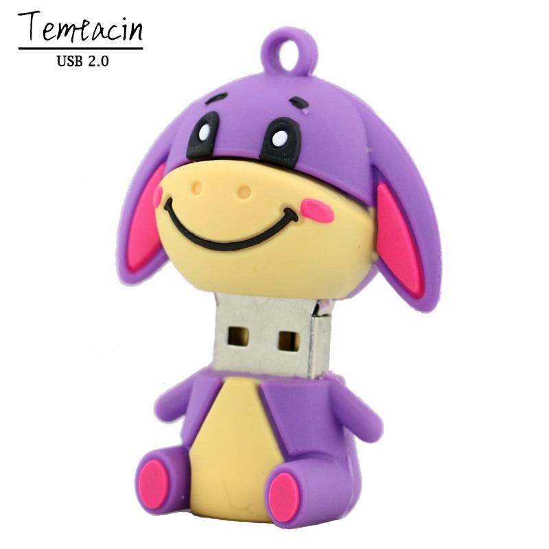 Nykomna Söt Pig Pen Drive Tigger Åsna USB Flash Drive Animal - Extern lagring - Foto 5