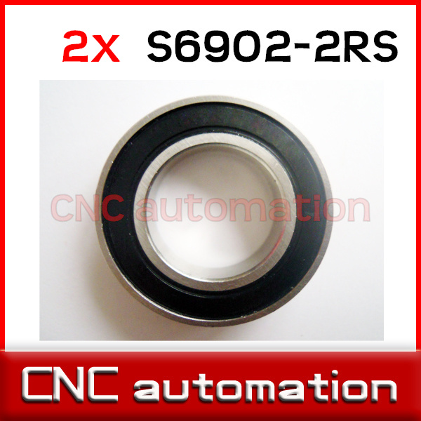 440c Stainless Steel Rubber Sealed Ball Bearings S16002-2RS 2 PCS 15x32x8 mm