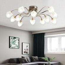 Modern Creative Nordic LED Chandelier With Glass Ball For Living Room Bedroom Iron Chandeliers G9 Indoor Lighting Fixtures